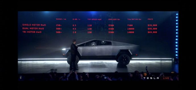 """特斯拉Cybertruck全钢皮卡车,满满""""未来范儿""""的战车 liuliushe.net六六社 第4张"""