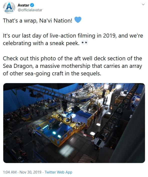 """2021年将上映《阿凡达2》""""完成拍摄,纳维族!"""" liuliushe.net六六社 第1张"""