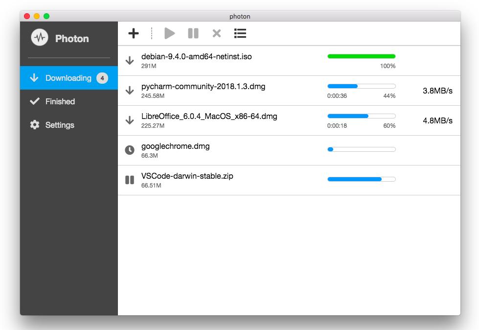 Photon:免配置 Aria2 免费下载工具