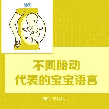 不同的胎动代表宝宝不同的语言