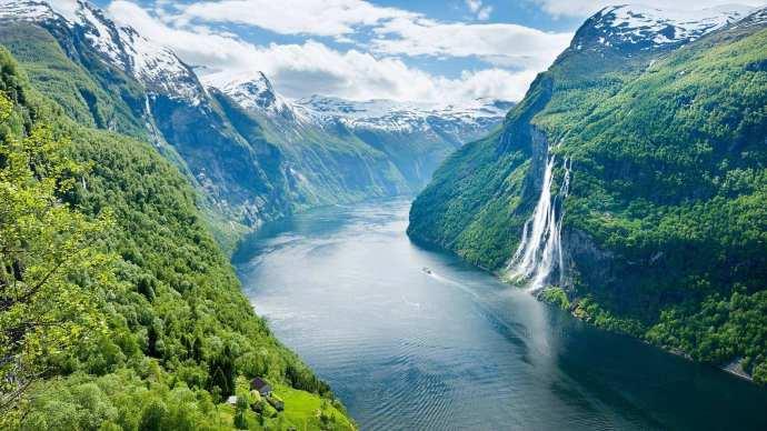 挪威,七姐妹瀑布,太美了!
