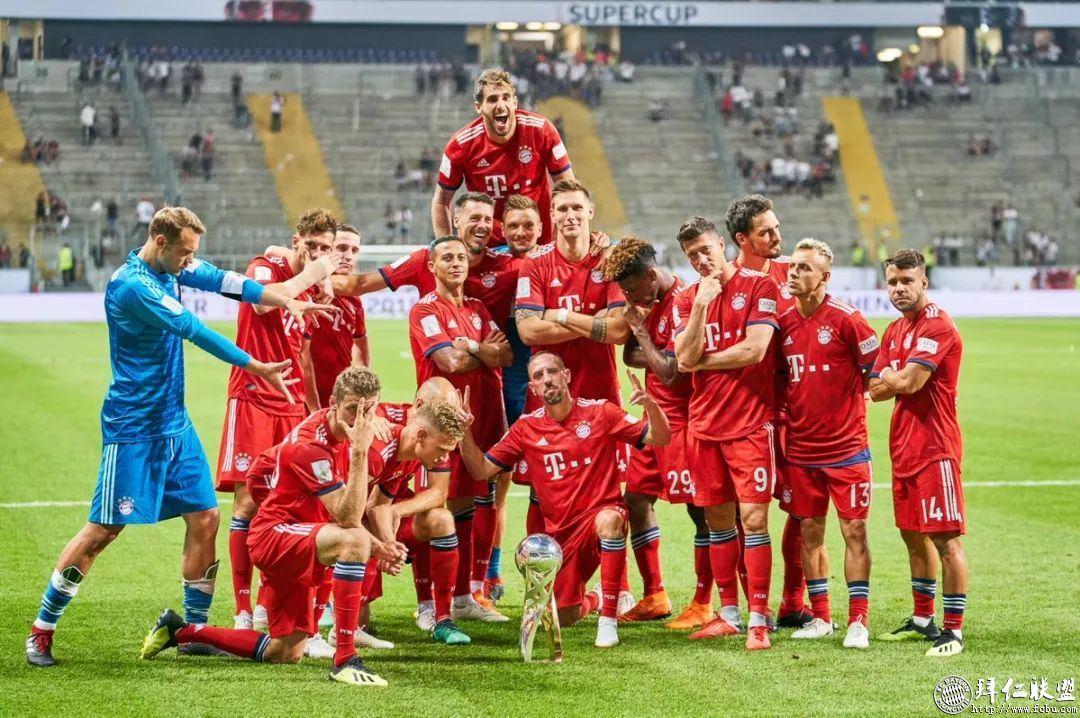 德国超级杯三连冠!拜仁5:0法兰克福16