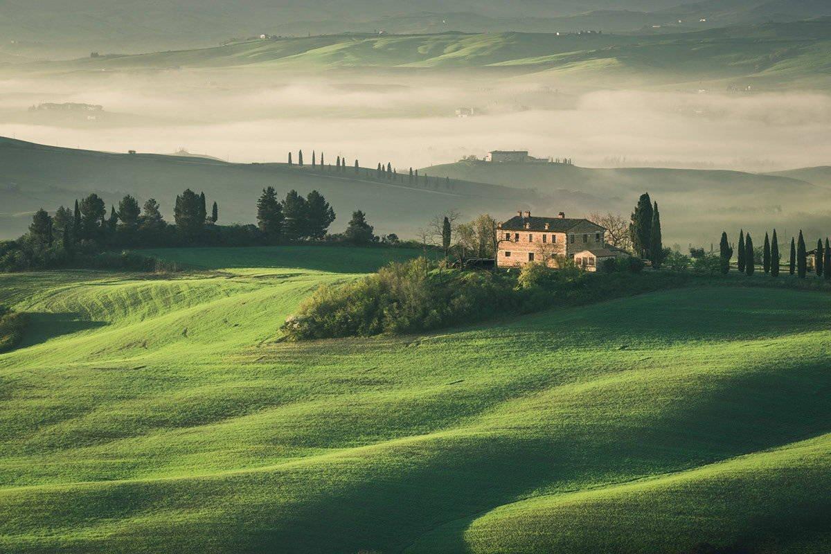 朦胧的托斯卡纳 美的像画布中走出的风景