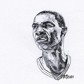 NBA球星素描画[9P]-来自国外著名的插画师Patrick Truby的图片-高老四博客 第9张