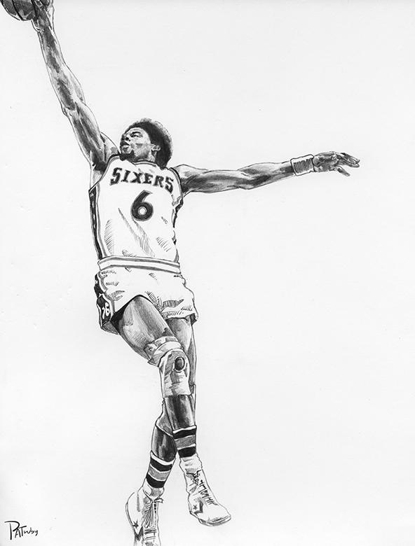 NBA球星素描画[9P]-来自国外著名的插画师Patrick Truby的图片-高老四博客 第5张