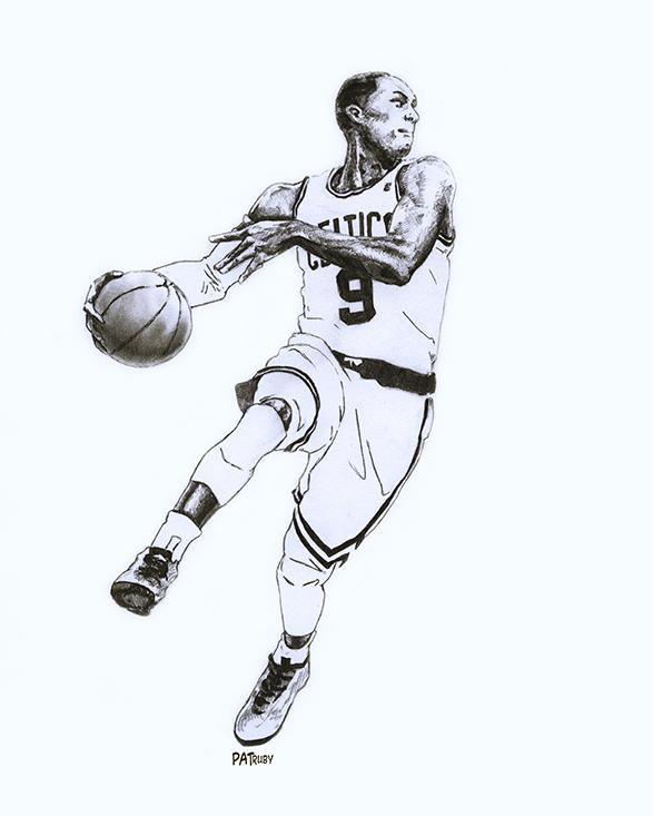 NBA球星素描画[9P]-来自国外著名的插画师Patrick Truby的图片-高老四博客 第8张