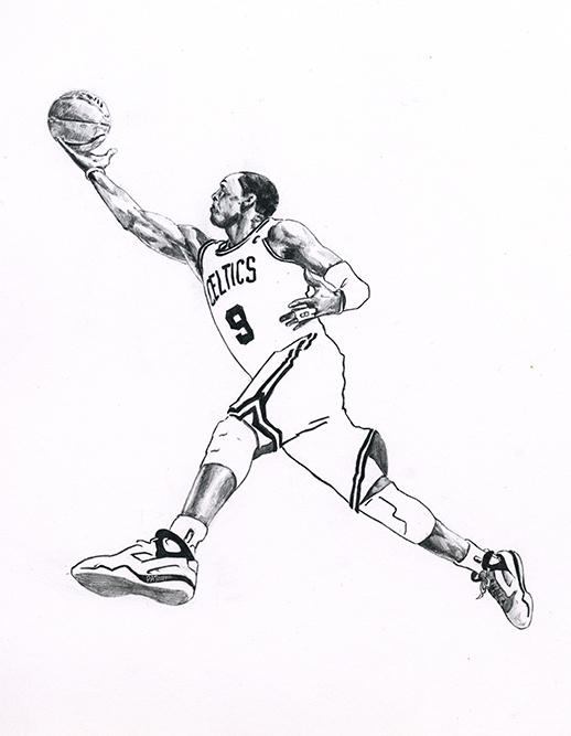 NBA球星素描画[9P]-来自国外著名的插画师Patrick Truby的图片-高老四博客 第7张