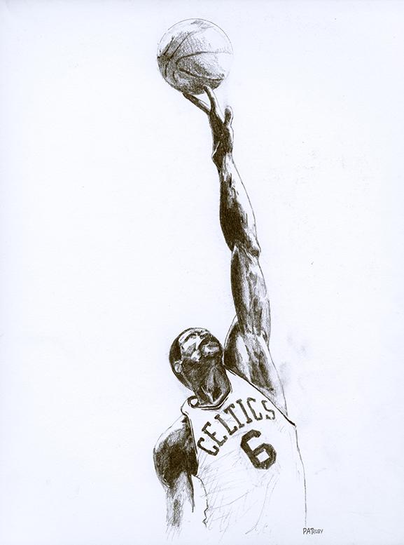 NBA球星素描画[9P]-来自国外著名的插画师Patrick Truby的图片-高老四博客 第1张