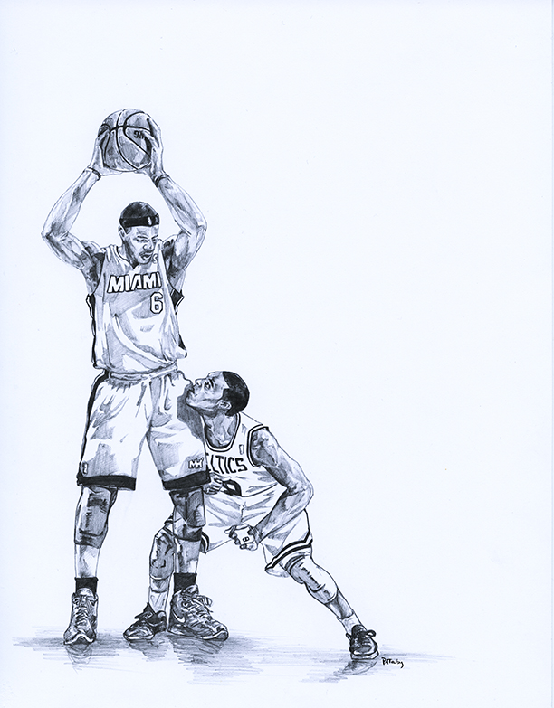 NBA球星素描画[9P]-来自国外著名的插画师Patrick Truby的图片-高老四博客 第6张