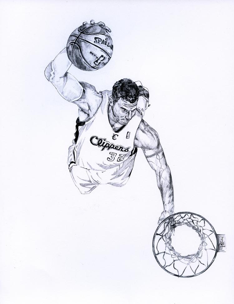 NBA球星素描画[9P]-来自国外著名的插画师Patrick Truby的图片-高老四博客 第2张