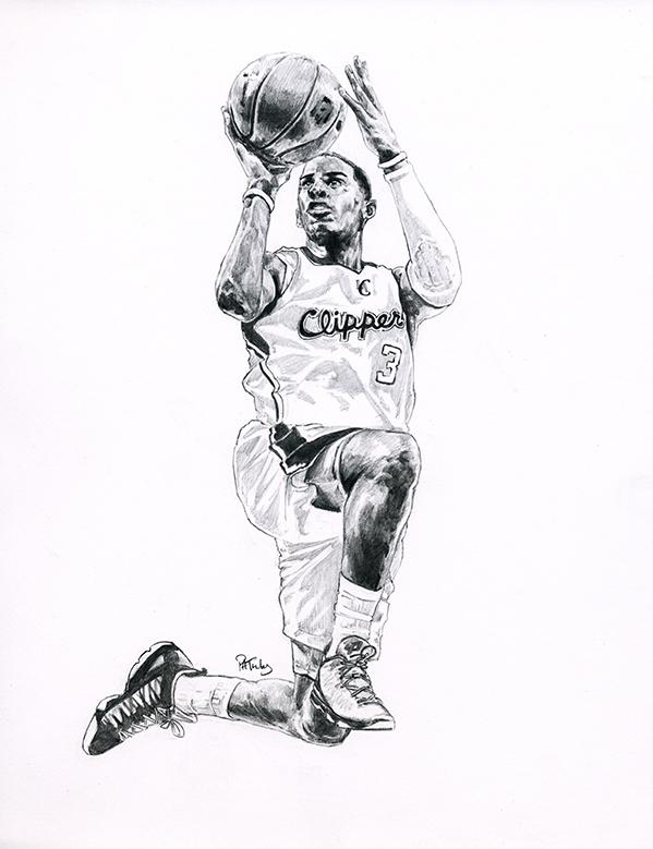 NBA球星素描画[9P]-来自国外著名的插画师Patrick Truby的图片-高老四博客 第3张