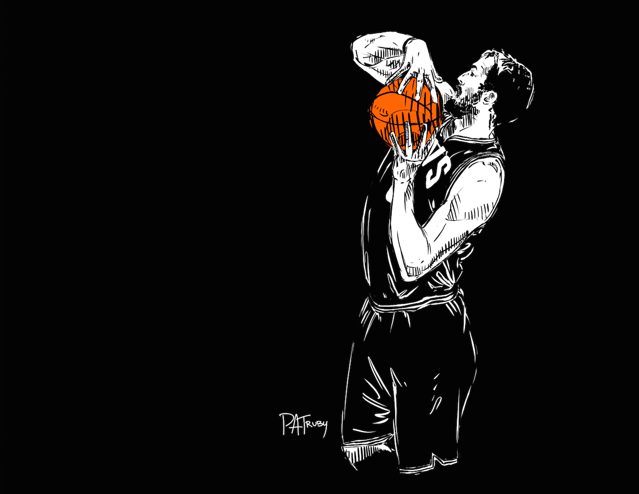 分享几张詹姆斯骑士时期的插画[6P],依然来自Patrick Truby的图片-高老四博客 第5张