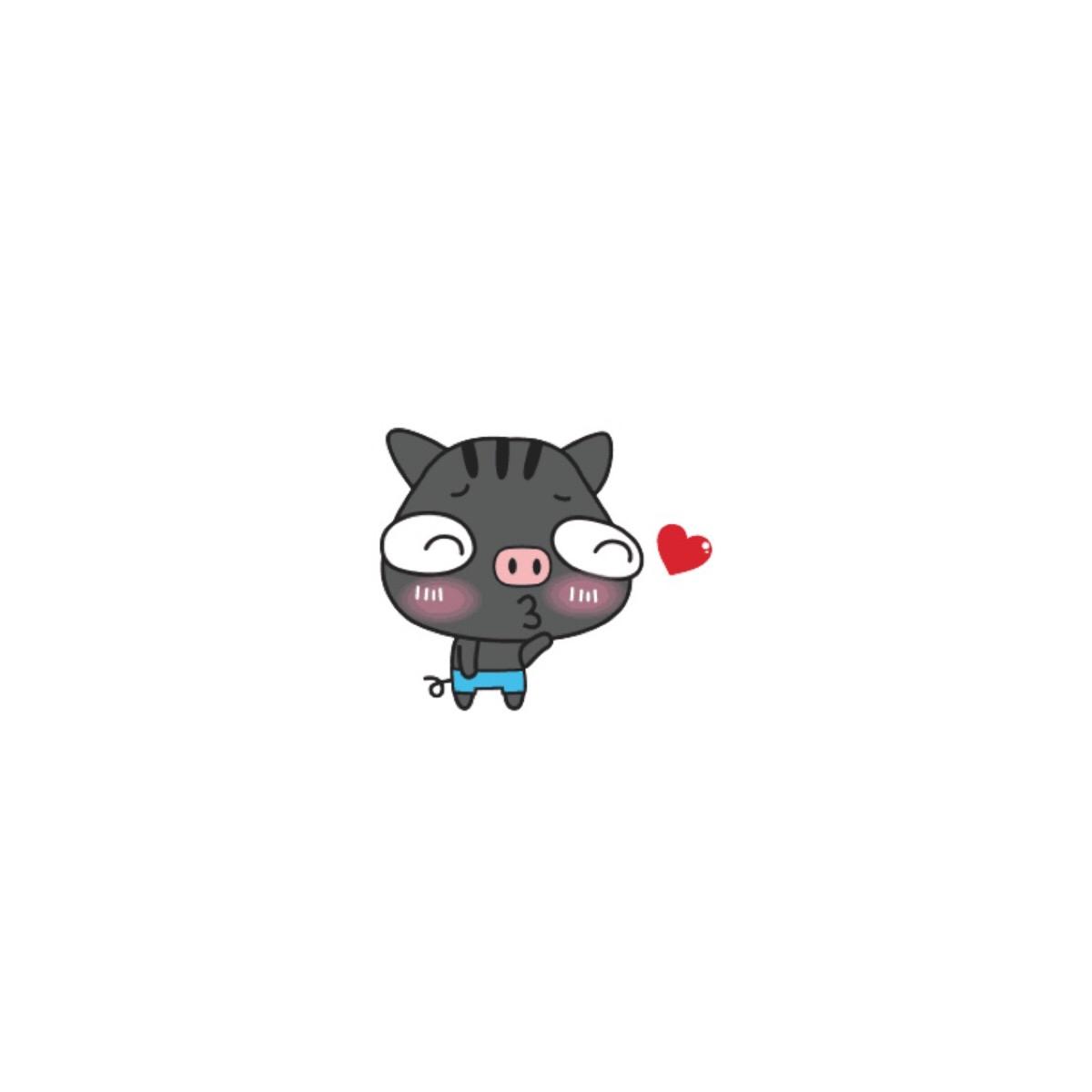 萌萌哒黑白猪高清情侣头像 第15张