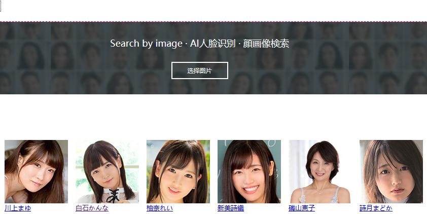 好站推荐:AI人脸识别岛国美女信息