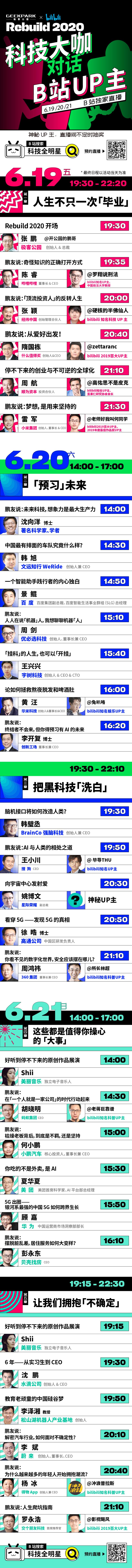 """B站科技大咖直播Rebuild2020""""科技全明星""""插图(1)"""