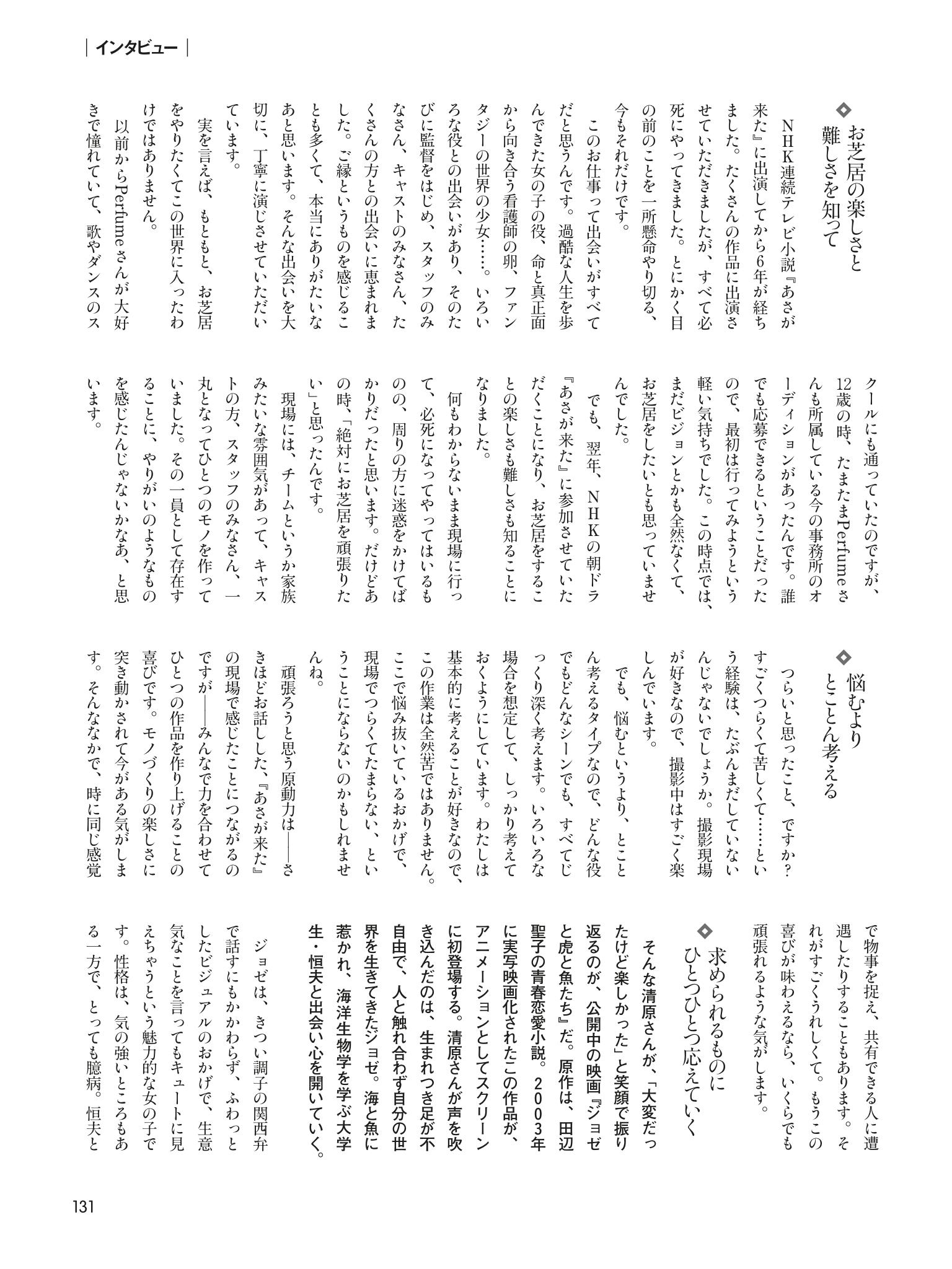 清原果耶 杂志存档