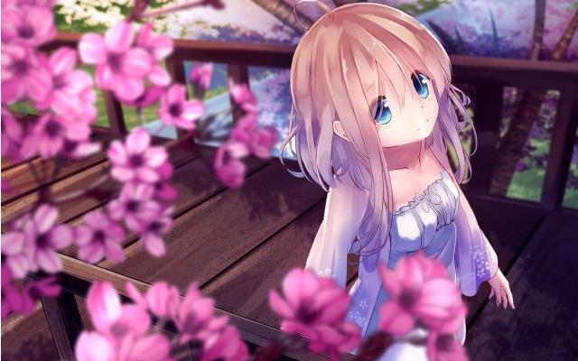 动漫内涵图|樱花下的动漫美少女图集百张