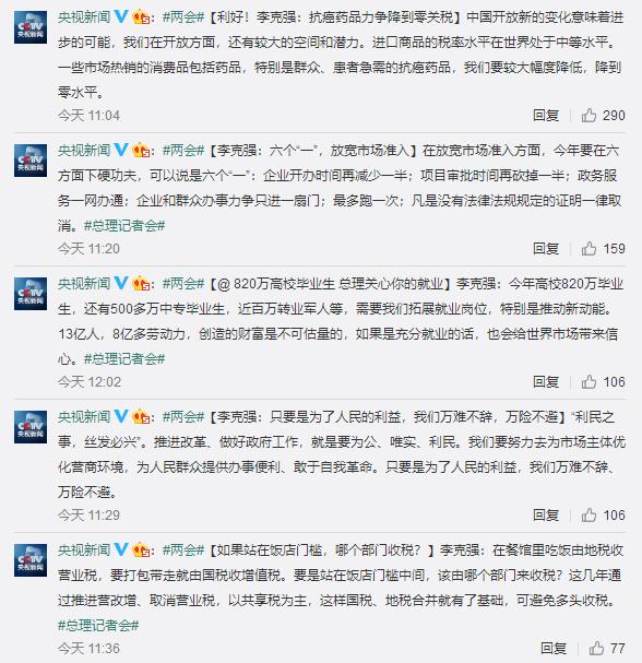 国务院总理答中外记者问 微博热搜 图2