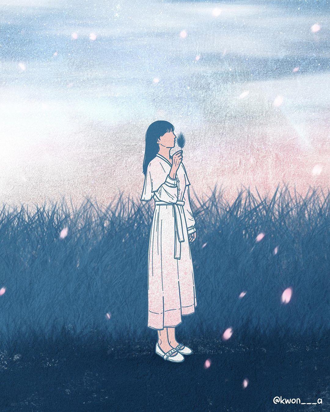 韩国插画师kwon___a笔下的情侣亲密照 涨姿势 第11张