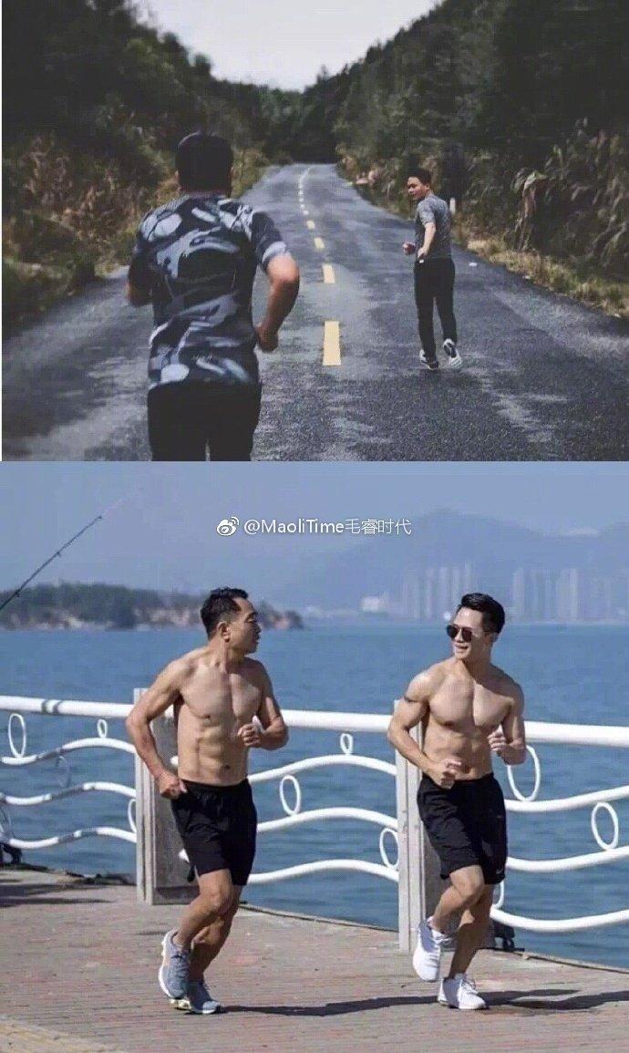 32岁的儿子和60岁的父亲相约减肥,历时6个月