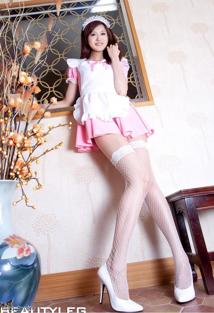 Vicni女佣丝袜长腿美女写真