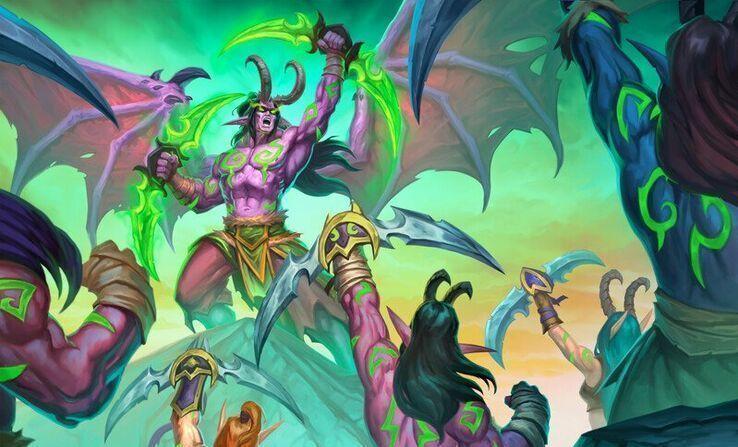 炉石传说/《外域之烬》十职牌组整理 恶魔猎人不畏Nerf依然强势