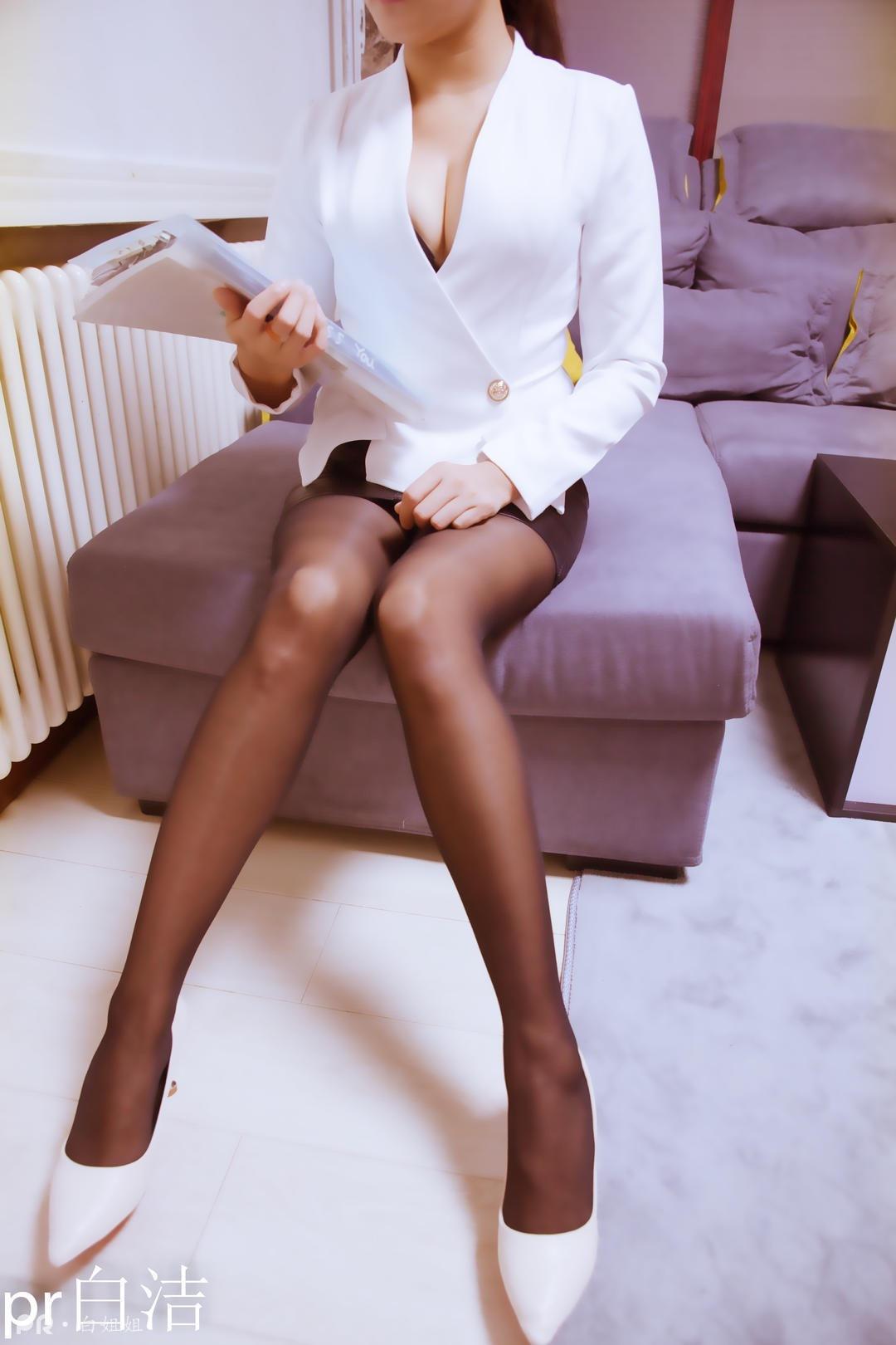 PR社熟女白洁腿控露脸高跟鞋70P10V
