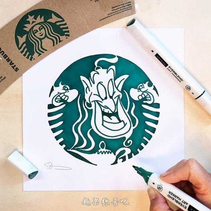 卡通人物变成星巴克LOGO,喝咖啡也能看到玛利欧感觉挺不赖-爱趣猫