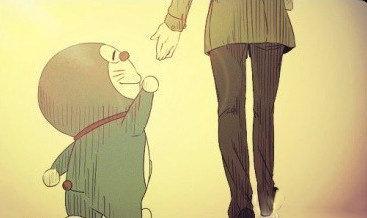 大雄长大之后,哆啦A梦就就牵不到他的收了~