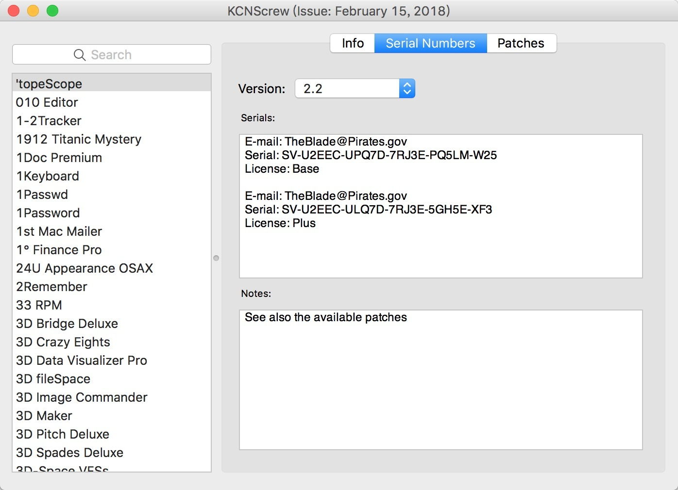 KCNcrew Pack 05-15-20 正版软件序列号、激活码分享工具-马克喵