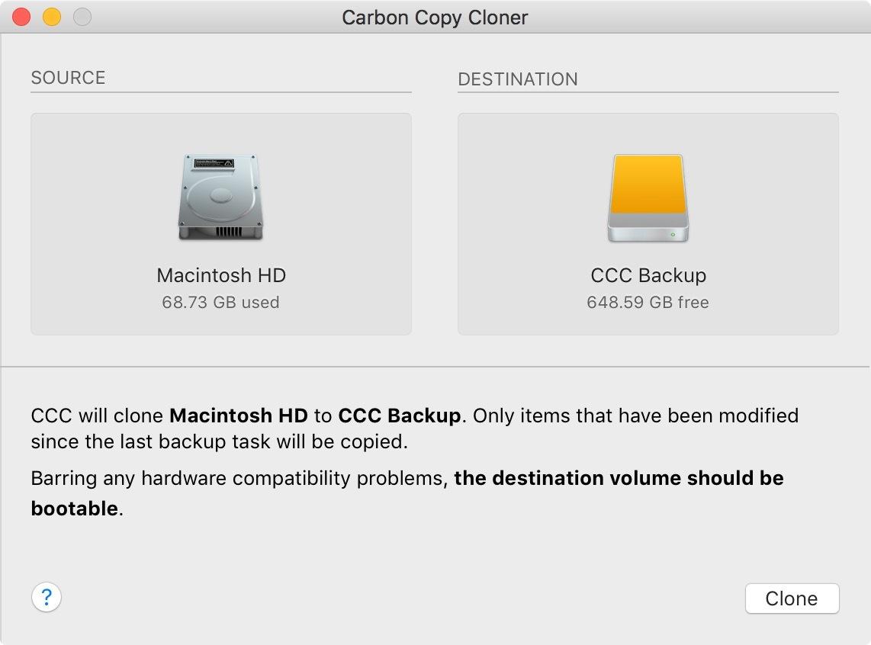 Carbon Copy Cloner 5.1.18 硬盘克隆、同步、备份-马克喵