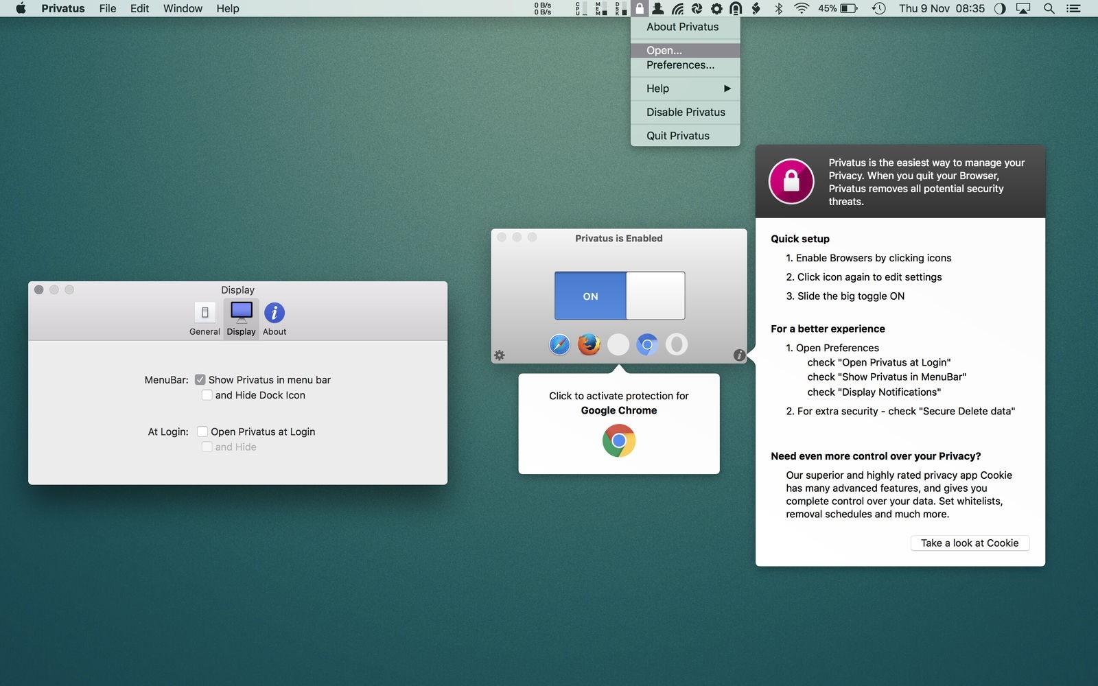 Privatus For Mac v6.2.5 自动清理网页缓存工具-马克喵