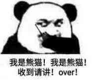 我是熊猫!我是熊猫!收到请讲!over!
