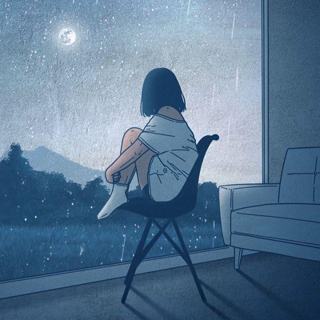 韩国插画师kwon___a笔下的情侣亲密照 涨姿势 第9张
