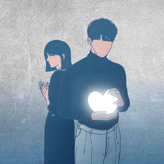 韩国插画师kwon___a笔下的情侣亲密照 涨姿势 第10张