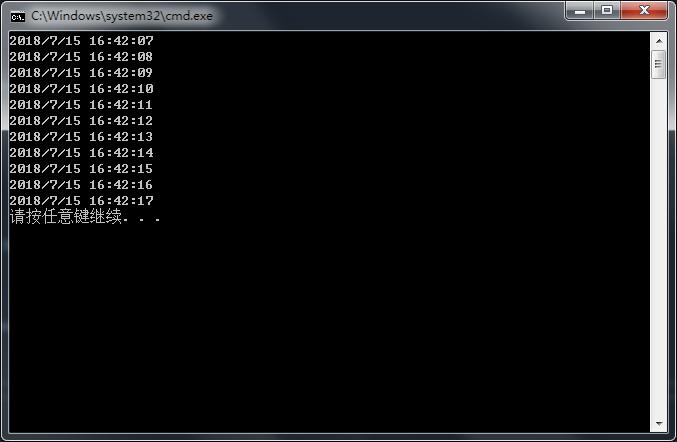 C#控制台应用程序 多线程获取系统时间