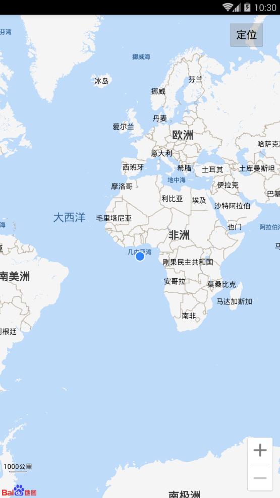 Android Studio调用百度地图定位到大西洋几内亚湾 解决方法