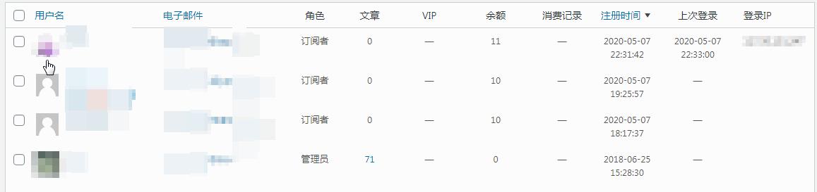 《纯代码给WordPress后台添加显示用户最后登录时间和IP记录等》