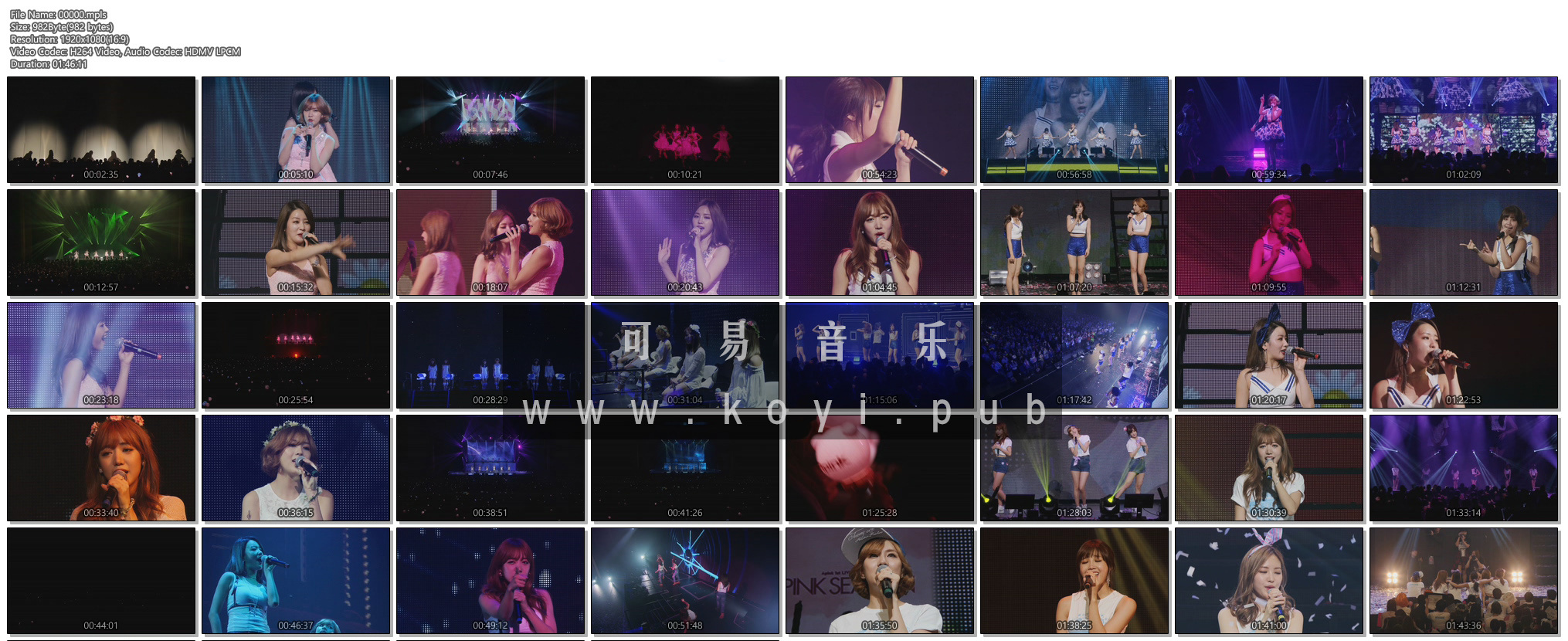 Apink 1st Live Tour 2015 ~Pink Season~[DVD/ISO/37.25G]