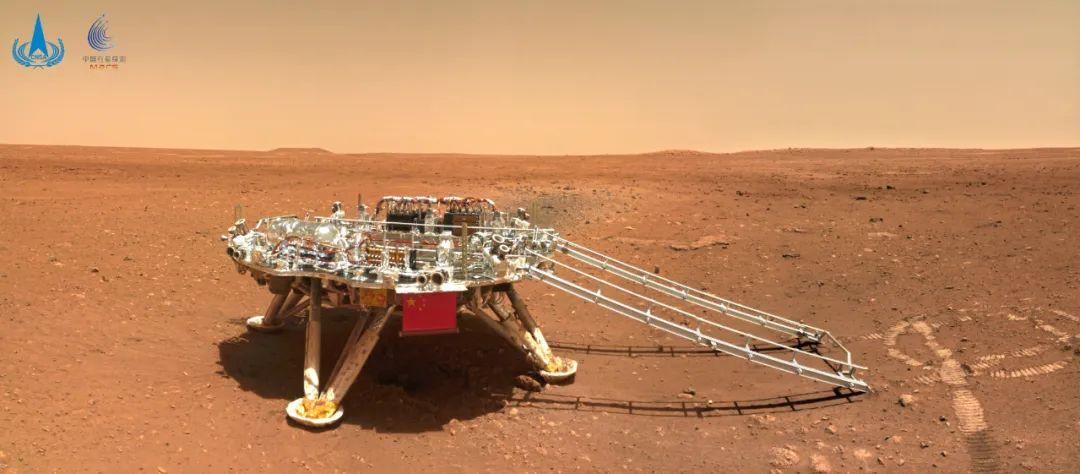 原来火星长这样,祝融号火星车首批摄影作品公布