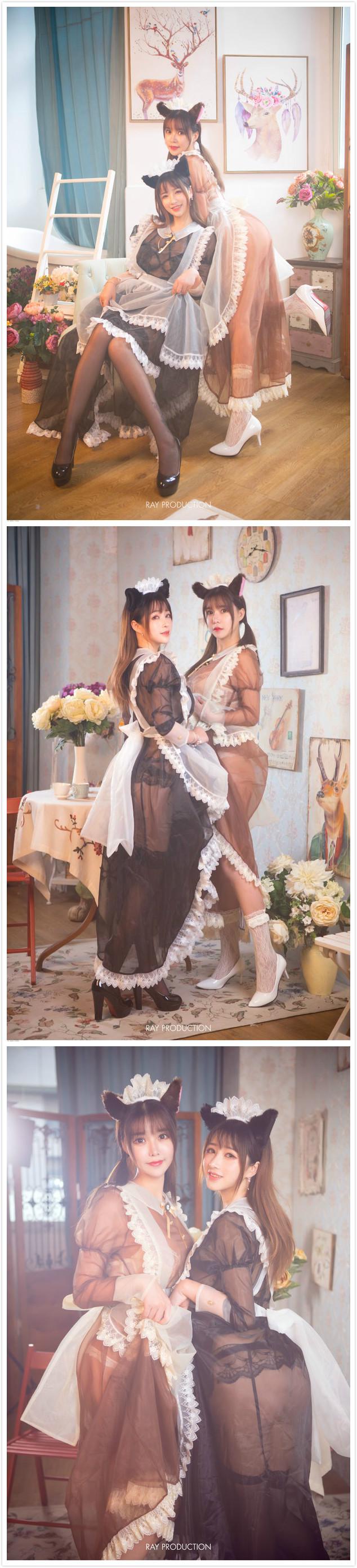 性感双人女仆 涨姿势 第3张