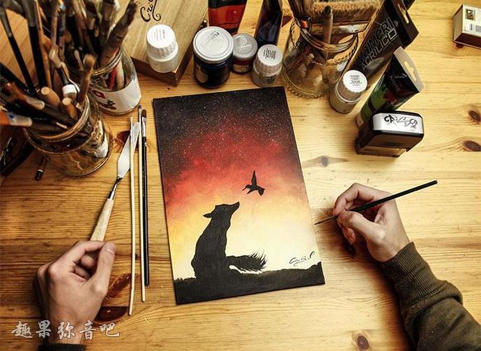 艺术家笔下的「夜光画作」:关灯后仿佛进入梦幻国度-爱趣猫