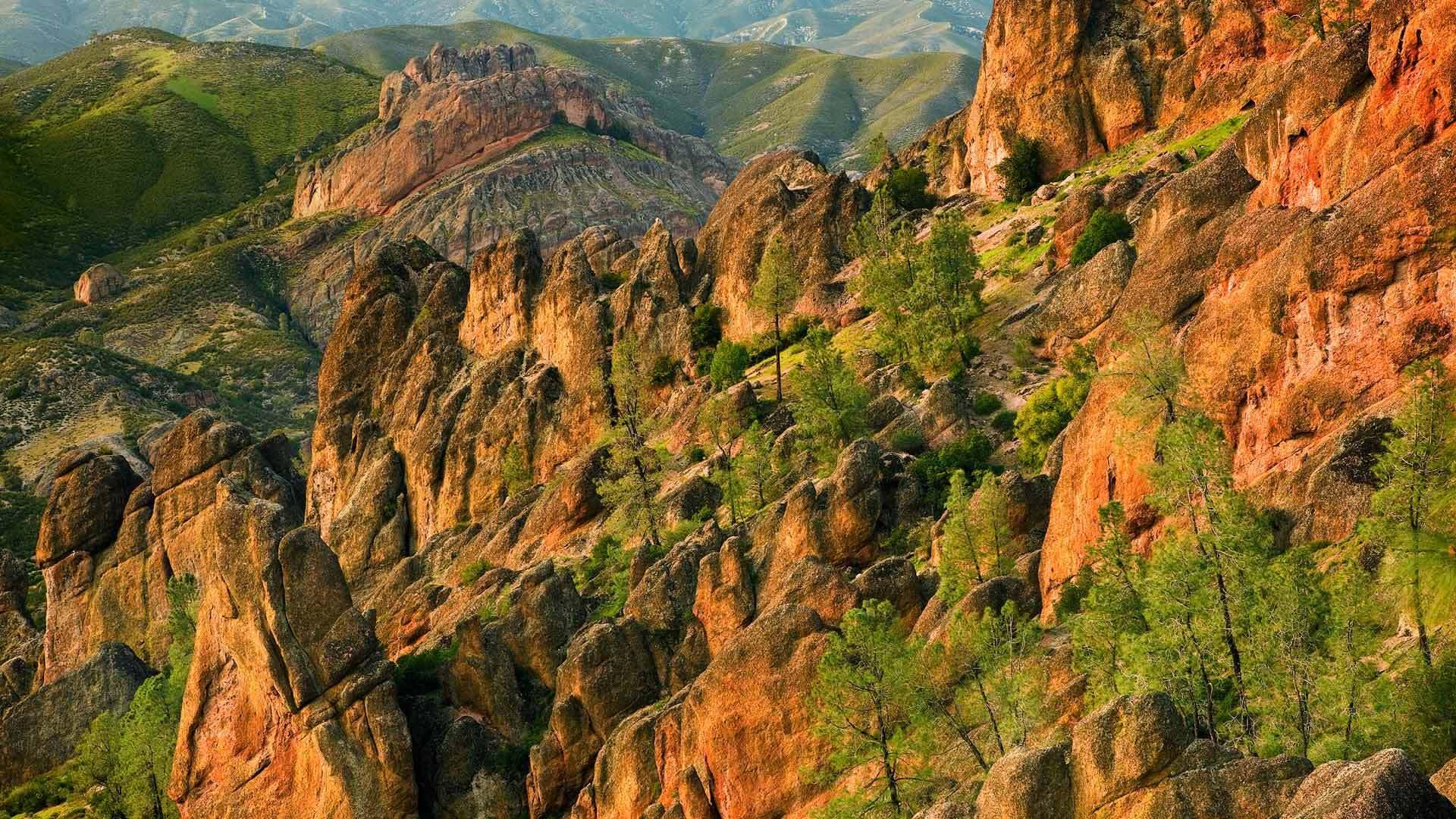 定格了的火山斜坡