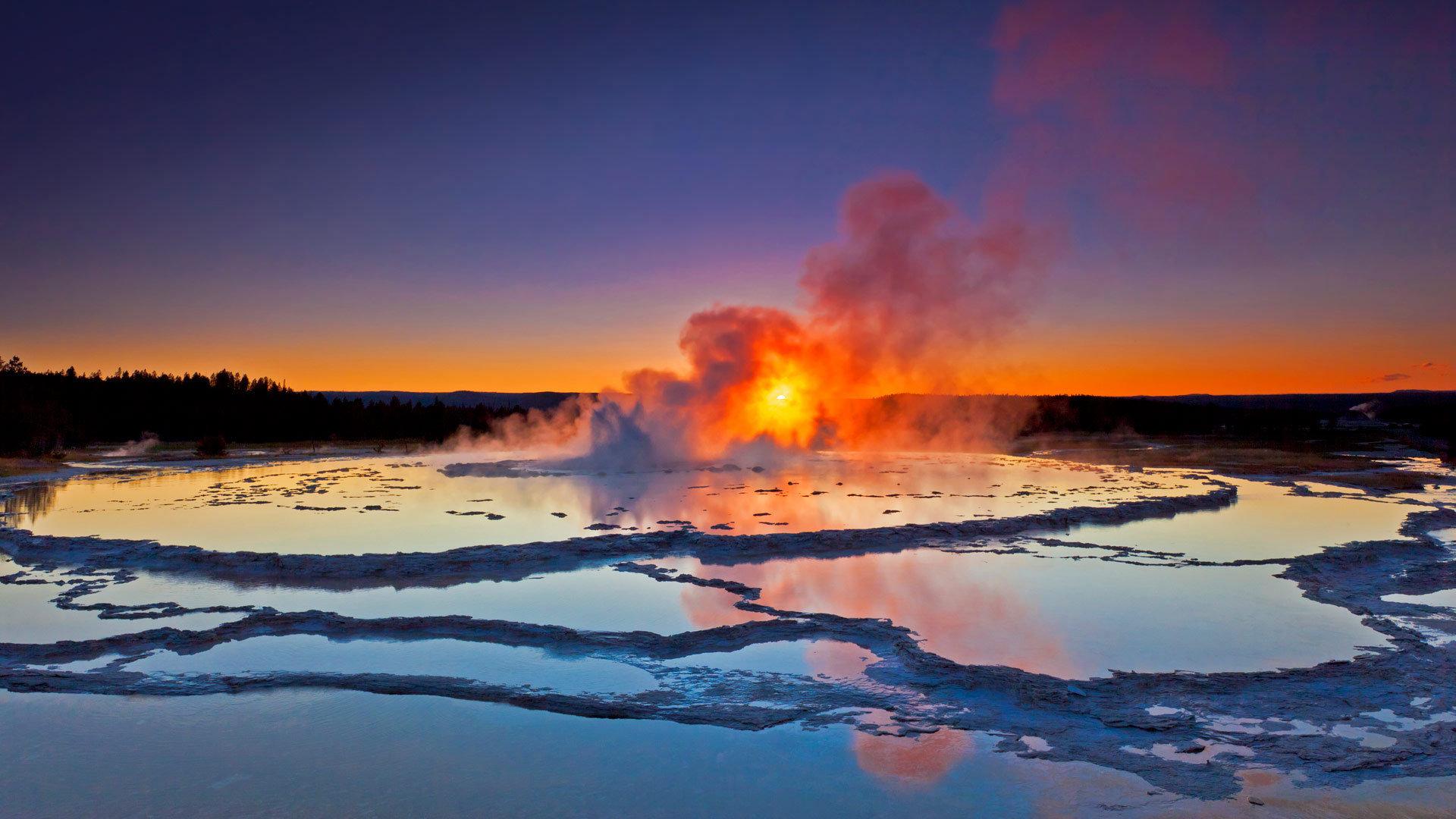 地表下火山活动的证据