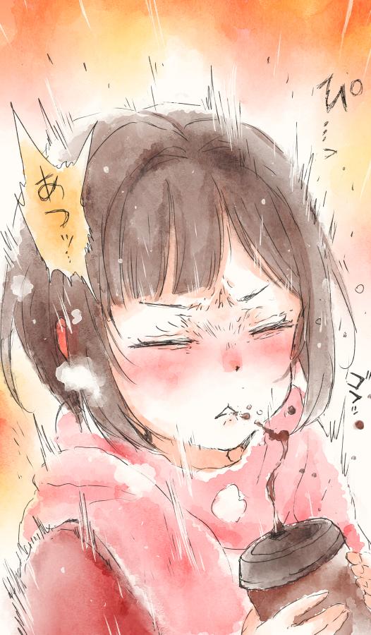 「幼稚园女孩的日常」插画!再现熟悉的小猫熊威吓?!插图1