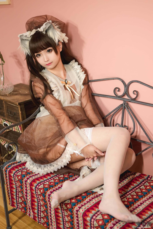 【喵糖映画系列】VOL.124 棕色女仆装 蠢沫沫