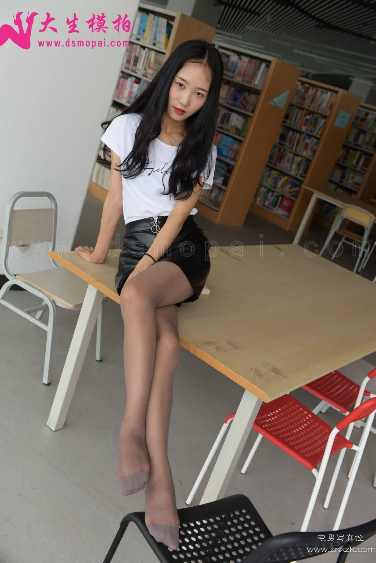 大生模拍 No.068 菲菲 图书馆小可爱