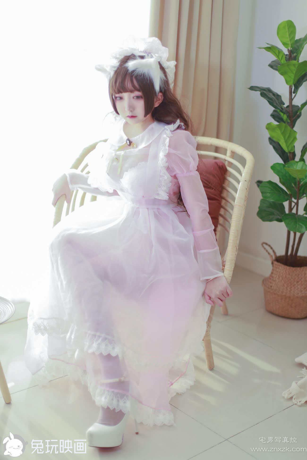 兔玩映画 粉色透明女仆