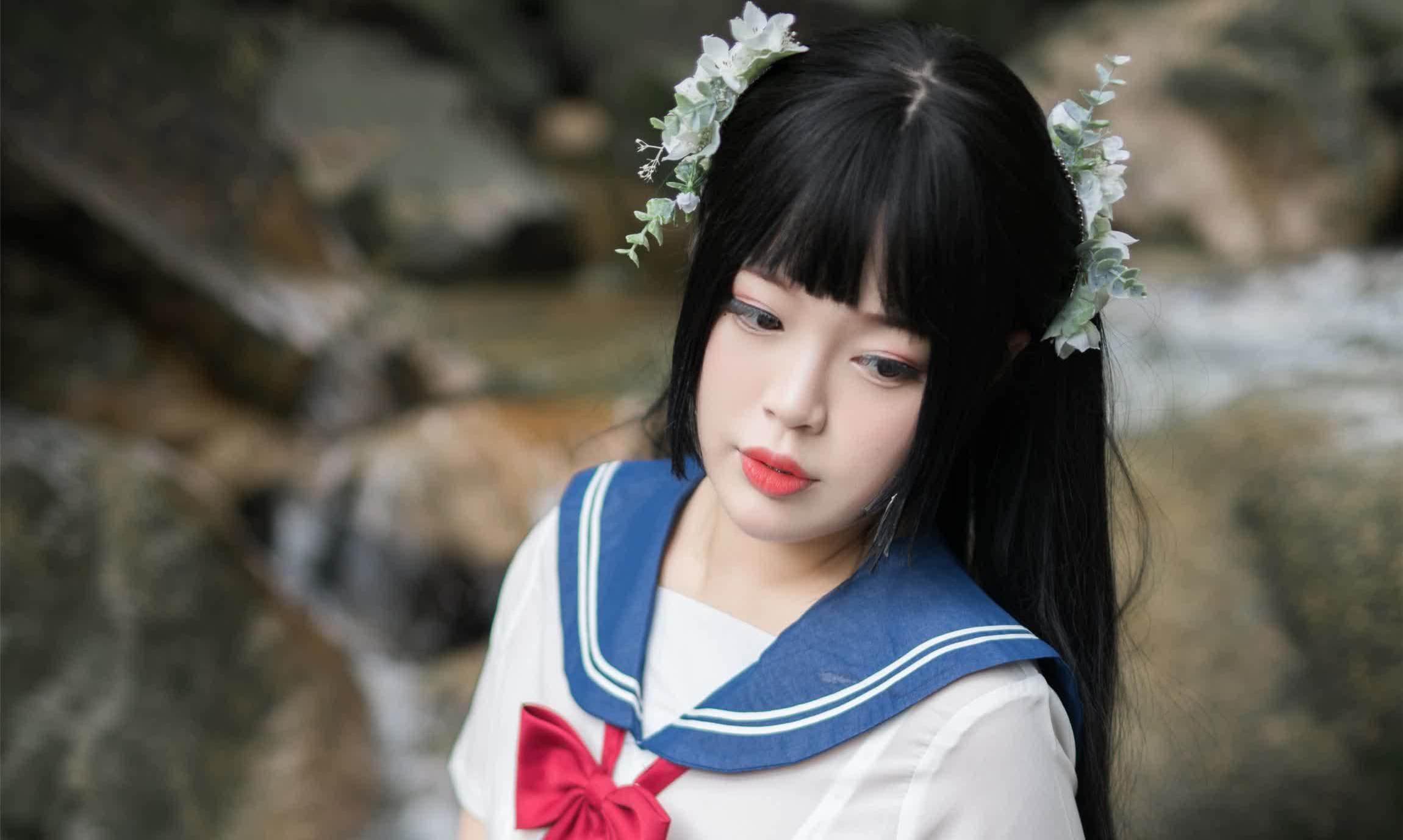 周末福利姬——白烨——《湿身JK》
