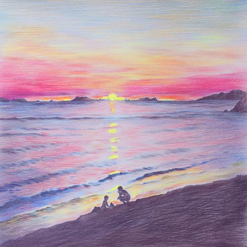 曹奎灿 - 해 지는 바닷가에서 스털링과 나는(Sunset)日落的海滩上的英镑和我[320K/MP3]